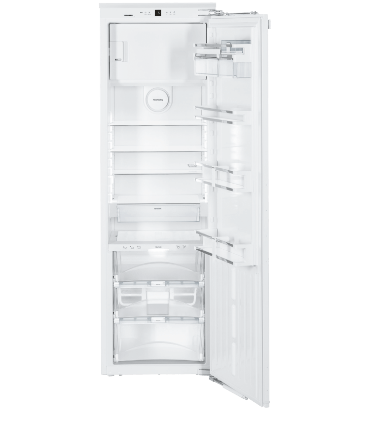 Inbouwkoelkast 178cm, 257L + 27L**** netto,  A++, BioFresh, deur-op-deur